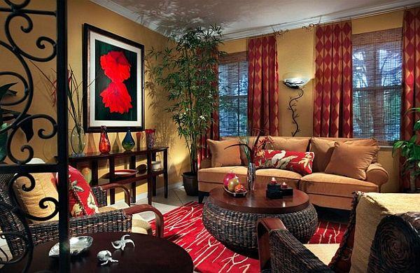 Rød indretning
